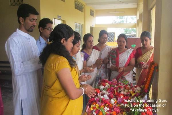 Teachers Performing Guru Puja On The Occasion Of